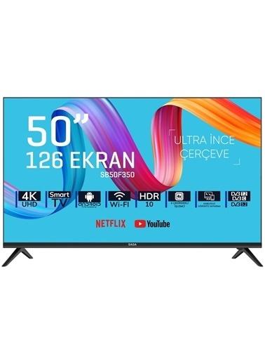 "Saba Saba SB50F350 50"" 126 Ekran Uydu Alıcılı 4K Smart Android LED Tv İnternetli Televizyon Siyah"